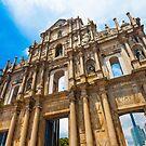 Ruins St Paul church in Macau, China by kawing921