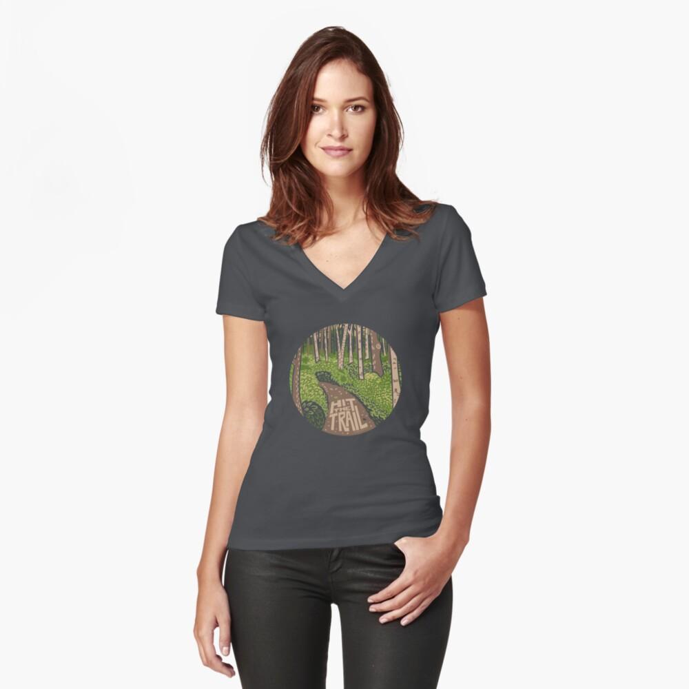 Hit the Trail Camiseta entallada de cuello en V