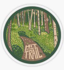 Hit the Trail Transparent Sticker