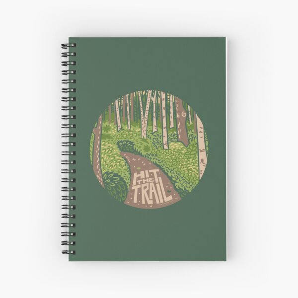 Hit the Trail Spiral Notebook