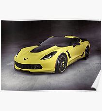 2016 Chevrolet Corvette Z06 coupe sports car art photo print Poster