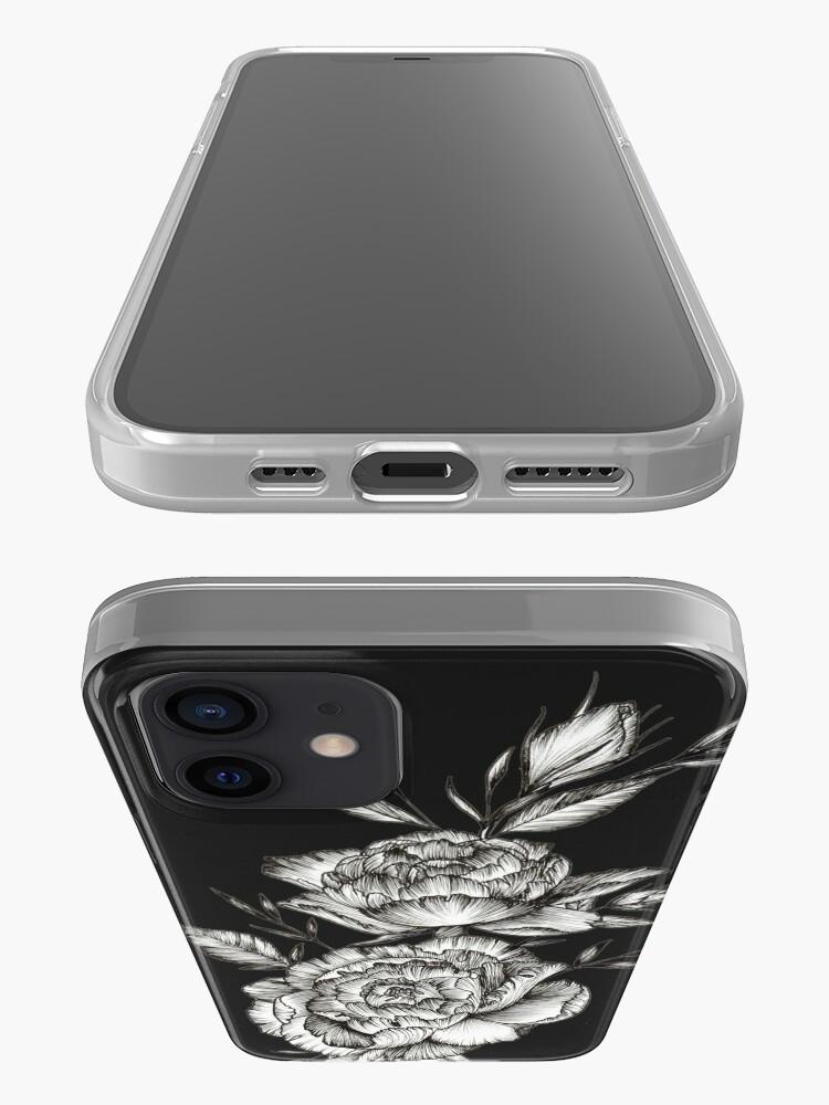 Alternate view of Blackwork Peony iPhone Case & Cover