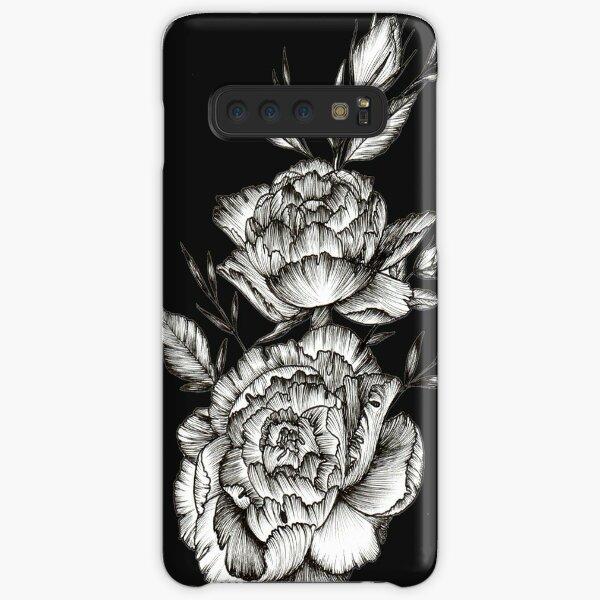 Blackwork Peony Samsung Galaxy Snap Case