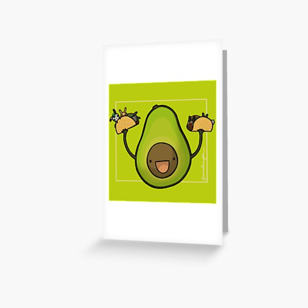 Avocado :: Carnivorous Foods Series Greeting Card