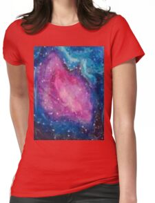 Galaxies And Nebulas - Acrylic Painting Womens Fitted T-Shirt