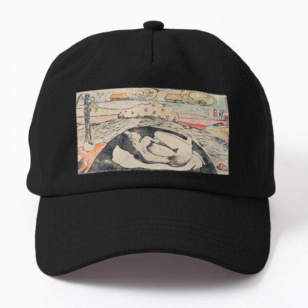 She Thinks of the Ghost or The Ghost Thinks of Her (Manao tupapau) (ca. 1894–1895) by Paul Gauguin. Dad Hat