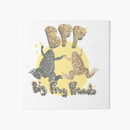 Big Frog Friends Art Board Print