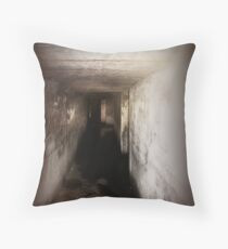 Battery Mishler corridor into the darkness Throw Pillow