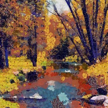 Autumn pond in the park by CatyArte