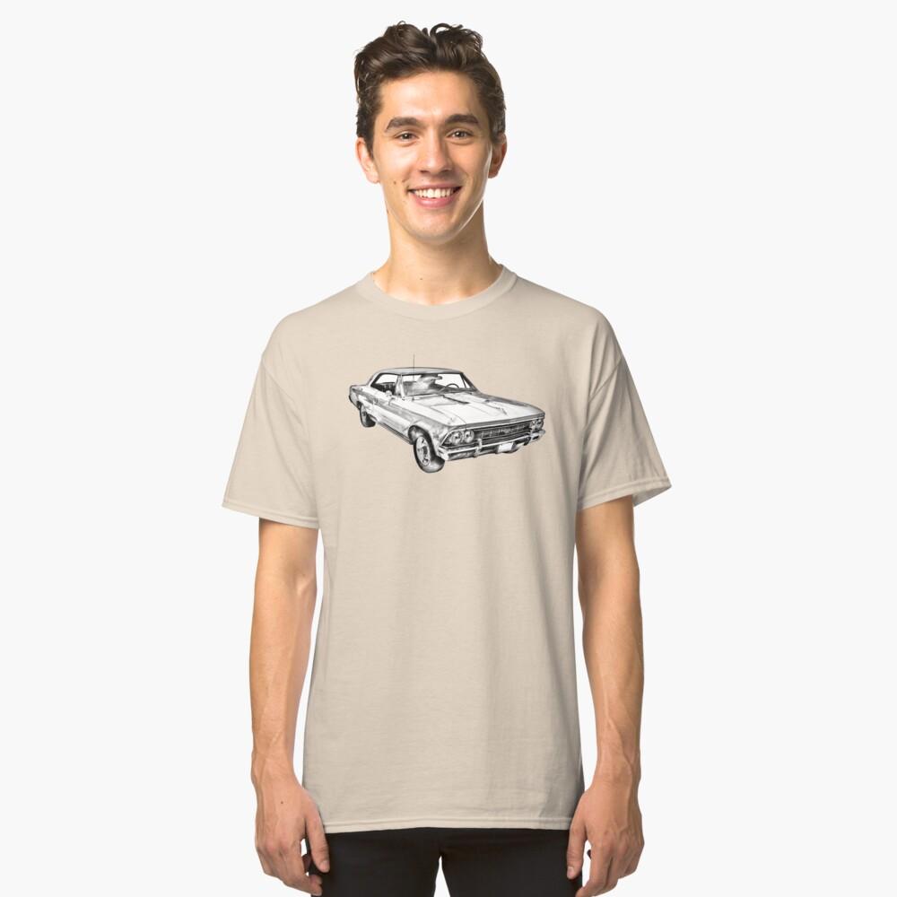 1966 Chevy Chevelle SS 396 Illustration Camiseta clásica