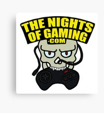 The Nights of Gaming skully Canvas Print