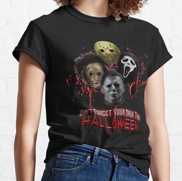 Halloween Horror Icons  Classic T-Shirt