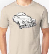 1948 Pontiac Silver Streak Convertible Illustration Unisex T-Shirt