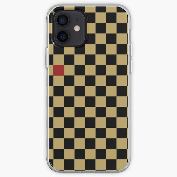 Gold And Black Check iPhone Soft Case
