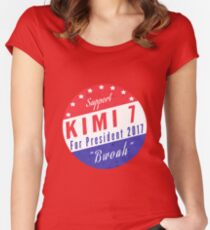 Kimi For President Women's Fitted Scoop T-Shirt