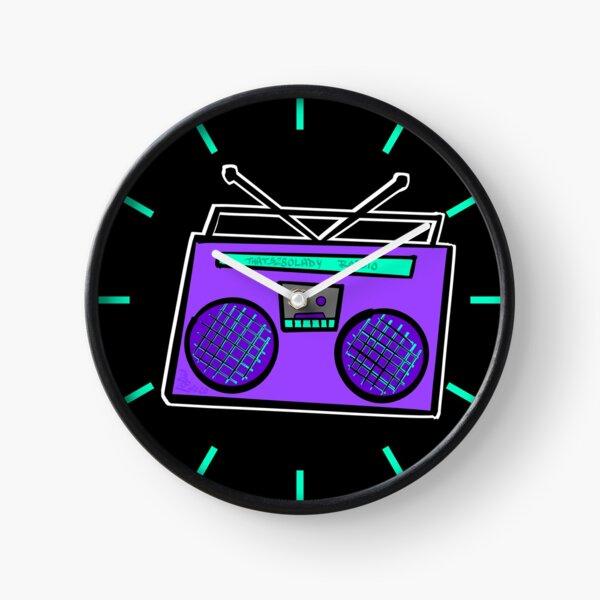 Purple Boombox Clock