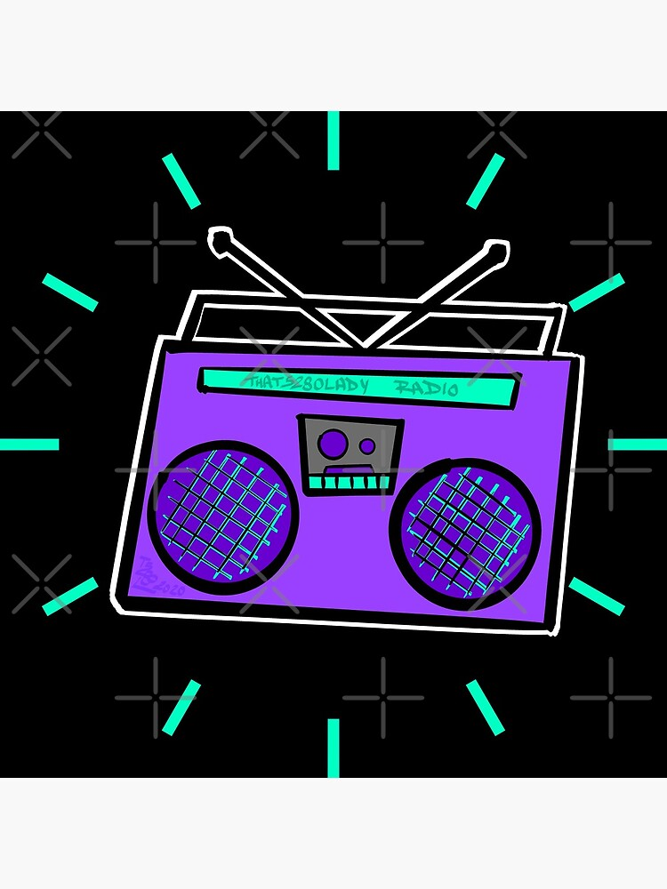 Purple Boombox by that5280lady