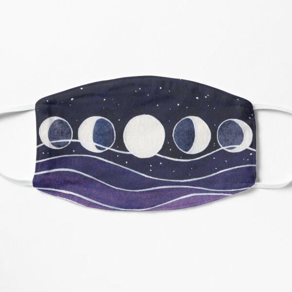 Purple Mountains and Moon Flat Mask