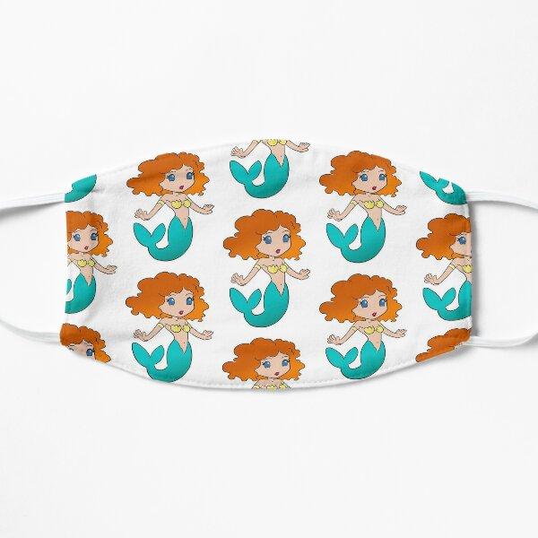 Mermaid Anime Style Redhead Flat Mask