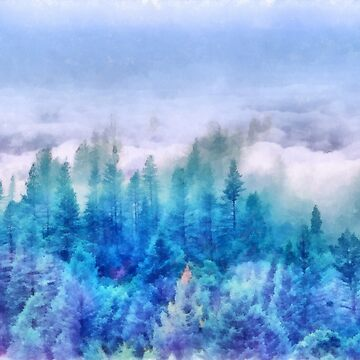 Clouds over pine forest by CatyArte