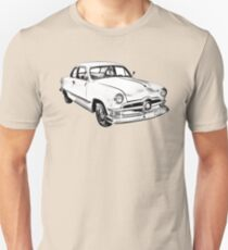 1950  Ford Custom Antique Car Illustration Unisex T-Shirt
