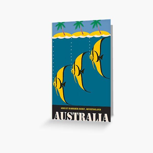 Vintage Travel Poster Australia Greeting Card