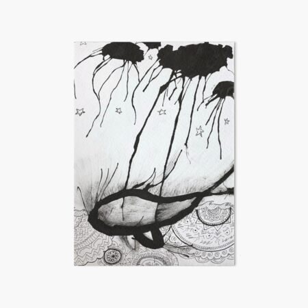 storm & whale Art Board Print