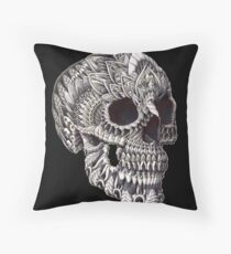 Ornate Skull Throw Pillow