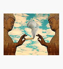 PUFF PUFF PASS BUDDHA Photographic Print