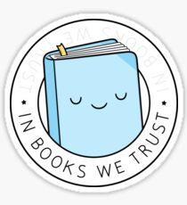 In Büchern vertrauen wir Sticker