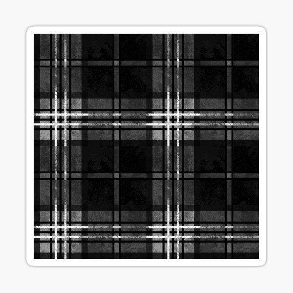 Gray Black Plaid Tartan Pattern Sticker
