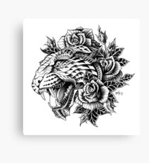 Ornate Leopard Canvas Print