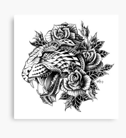 Ornate Leopard Canvas Print