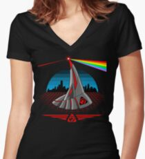 Dark Side of Nod Women's Fitted V-Neck T-Shirt