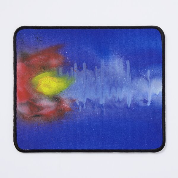 Sound Wave Flag Mouse Pad