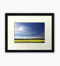 Sun Halo Over Canola Field Framed Print