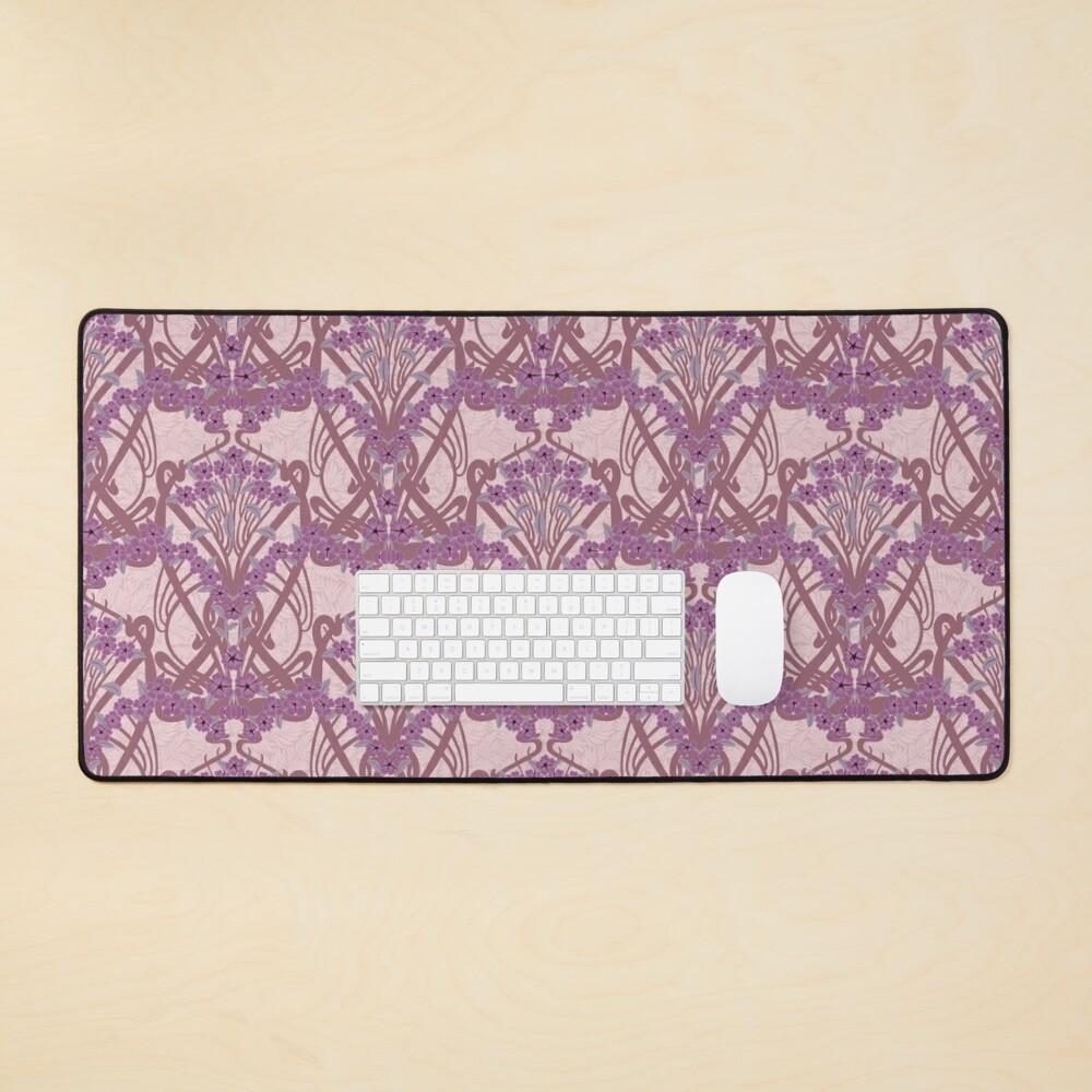 Art Nouveau Garland in Mauve Mouse Pad