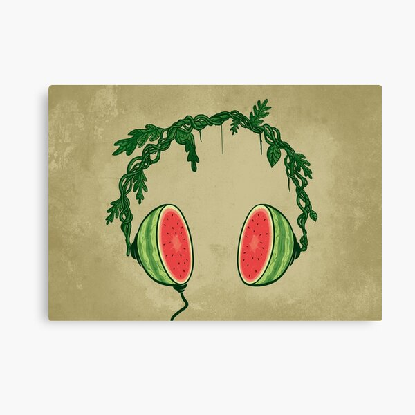 Watermelon beats Canvas Print