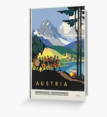 Vintage Austria Alps Travel Greeting Card