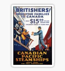 Vintage Canadian Pacific Steamships Canada Travel Sticker