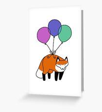 Balloon Fox Greeting Card