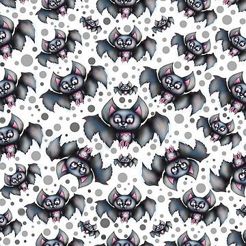 Creepy Cute Bats Pattern by sarahmwall