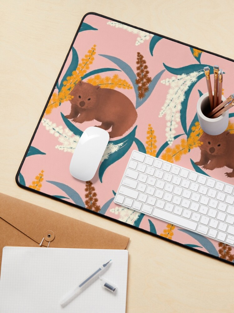 Alternate view of Wombat and Mimosa (aka waddle and wattle) Mouse Pad