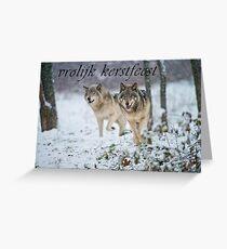 Timber Wolf Christmas Card - Dutch - 15 Greeting Card