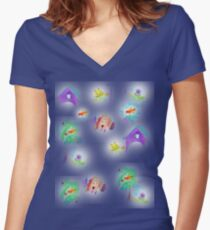 Doghouse and some neighbours Women's Fitted V-Neck T-Shirt