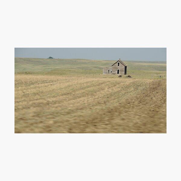 Old Farmhouse on the Prairie  Photographic Print