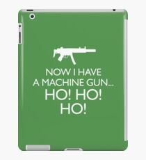 Die Hard 'Now I Have A Machine Gun' fun Xmas message iPad Case/Skin