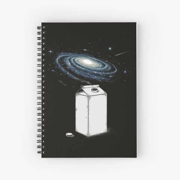 Milky Galaxy Spiral Notebook