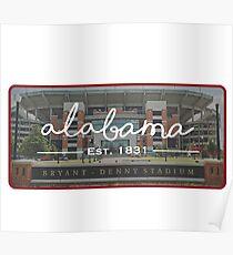 University of Alabama Football Poster