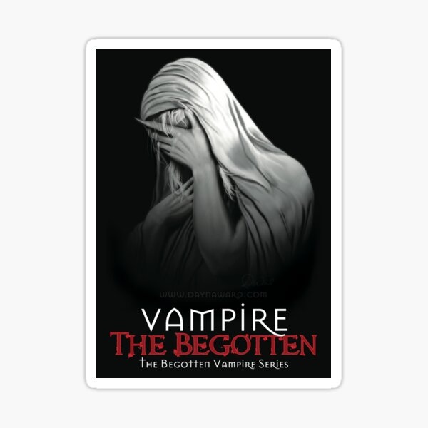 Weeping Vampire with Title (Stickers & Magnets) | Vampire The Begotten Sticker